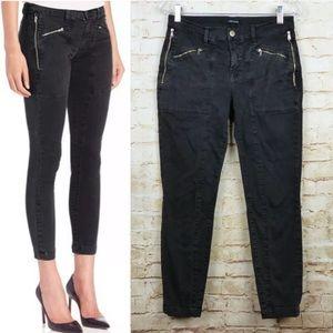J Brand Genesis Utility Ankle Skinny Jeans Black